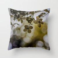 Dry hydrangea Throw Pillow