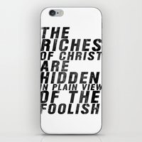 THE RICHES OF CHRIST ARE… iPhone & iPod Skin