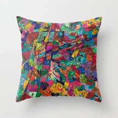 Simple Thing goes crazy Throw Pillow