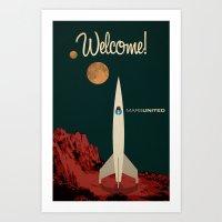 MarsUnited Welcome Art Print