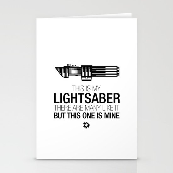 This is my Lightsaber (Vader Version) Stationery Card