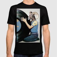 Vinyl life Mens Fitted Tee Black SMALL