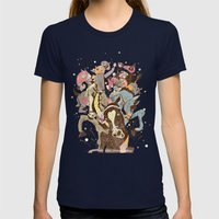The Great Horse Race! Womens Fitted Tee Navy SMALL