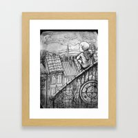 Up on the rooftops Framed Art Print