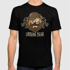 Urbane Bear SMALL Mens Fitted Tee Black