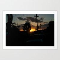 California Sun Art Print