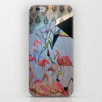 Flamingo Teaparty iPhone & iPod Skin