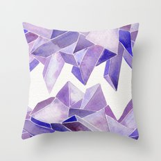 Amethyst Watercolor Throw Pillow