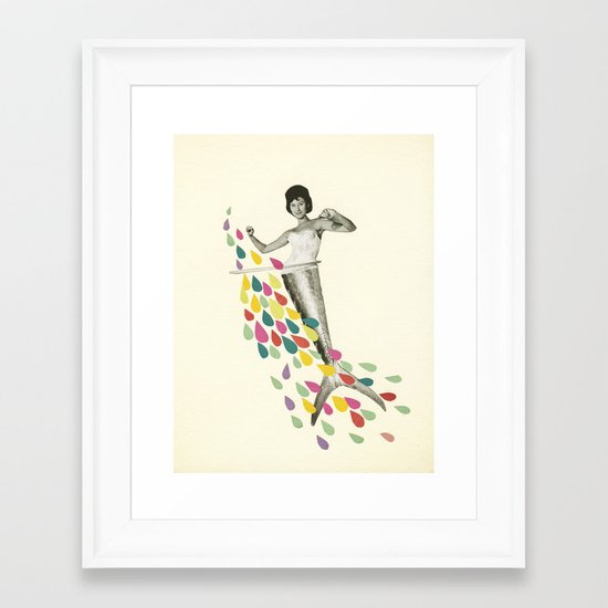 Follow Me : Pisces Framed Art Print