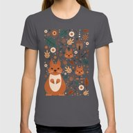 Squirrel Nutkin  Womens Fitted Tee Asphalt SMALL