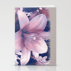Ephemeral Beauty of Spring in Blue & Pink Stationery Cards