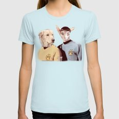 Star Pet Womens Fitted Tee Light Blue SMALL