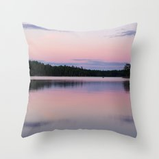 Sunset On Little Loon Throw Pillow
