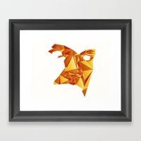 Polyface Color Framed Art Print