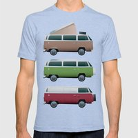 VW Camper Mens Fitted Tee Tri-Blue SMALL