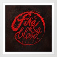 Game Of Type: Targaryen Art Print