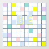 Be Windowpane Grid Canvas Print