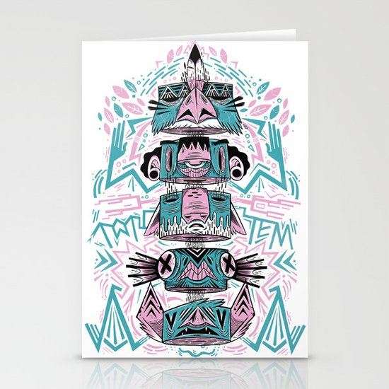Toto-Tem Stationery Card