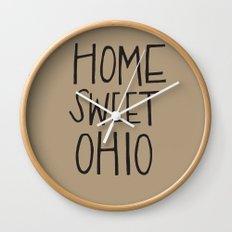 Home Sweet Ohio Wall Clock