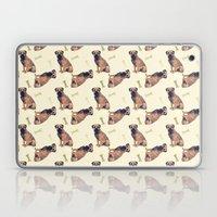 Border Terrier Dog Oil Paint, pattern Laptop & iPad Skin