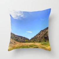 Gila Valley Meadow Throw Pillow