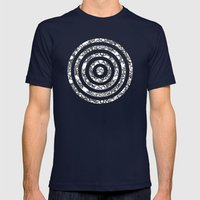 Lila's Flowers Repeat Bl… Mens Fitted Tee Navy SMALL