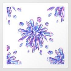 Zero Gravity Crystals II Art Print