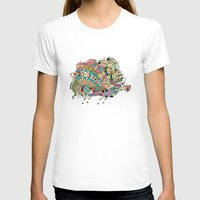 Monster Bunny Womens Fitted Tee White SMALL