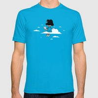 I wonder where Lucy is... Mens Fitted Tee Teal SMALL