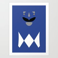 Power Rangers - Blue Ran… Art Print