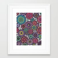 Psychedelic Flowers Framed Art Print