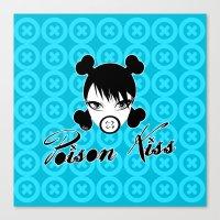 POISON KISS CYAN Canvas Print