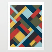 Abstrakt Adventure Art Print