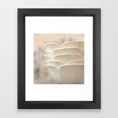 White Petal Bowls Framed Art Print