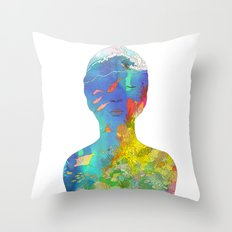 Ocean Thoughts Throw Pillow