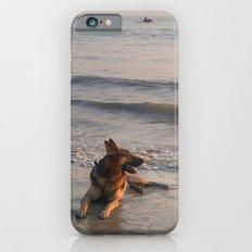 German Shepherd in the Surf Palolem iPhone 6 Slim Case