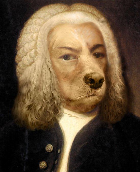 Bach, your best friend!  Art Print