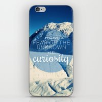 Replace Fear of the Unknown With Curiosity iPhone & iPod Skin