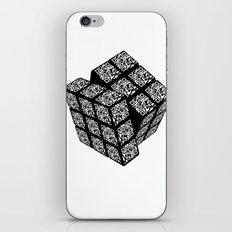 qr cube iPhone & iPod Skin