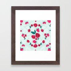 Roses & Berries Framed Art Print