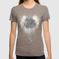 Angel Of The Chaos Womens Fitted Tee Tri-Coffee SMALL