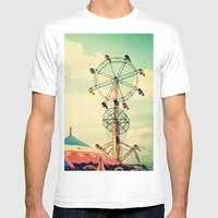 Get Your Ticket To Ride. Mens Fitted Tee White SMALL