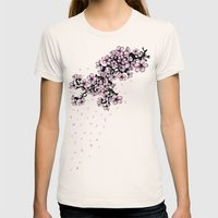 Sakura Cherry Blossom Womens Fitted Tee Natural SMALL