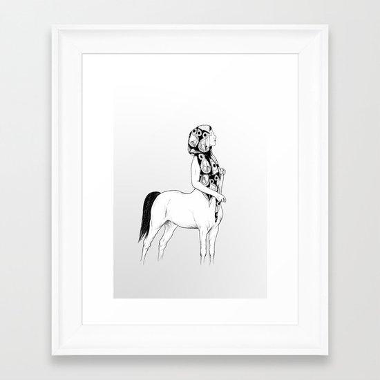 horses for courses I Framed Art Print