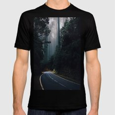 No one gets left behind SMALL Black Mens Fitted Tee
