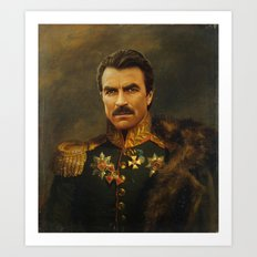 Tom Selleck - Replacefac… Art Print