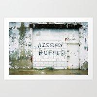 Hissy Wall Art Print