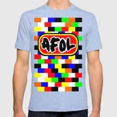 AFOL Mens Fitted Tee Tri-Blue SMALL