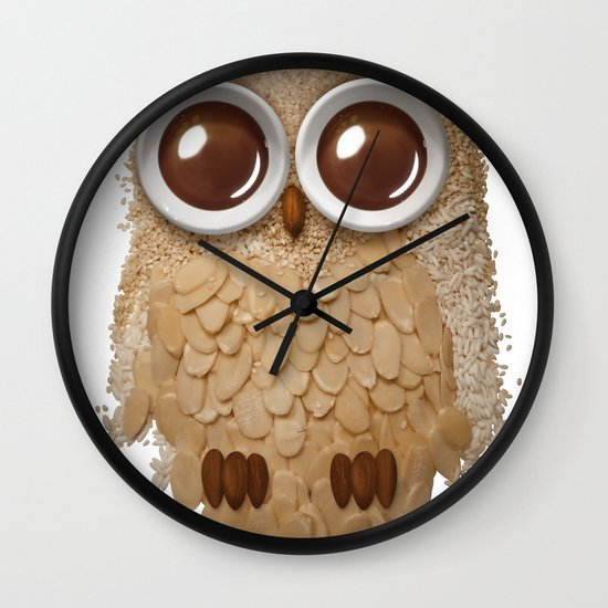 Owl Collage #6 Wall Clock