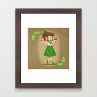 Retro Sailor Jupiter Framed Art Print